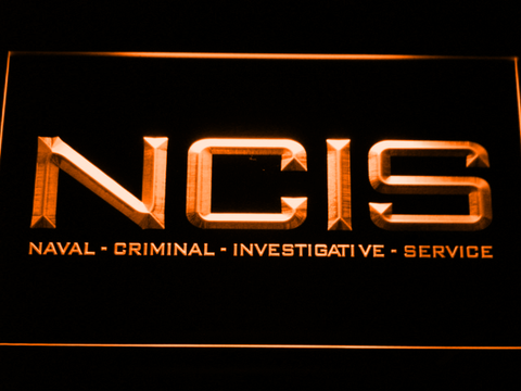 Image of NCIS LED Neon Sign - Orange - SafeSpecial