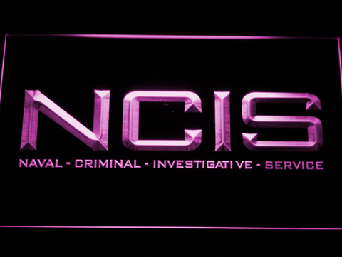 Image of NCIS LED Neon Sign - Purple - SafeSpecial