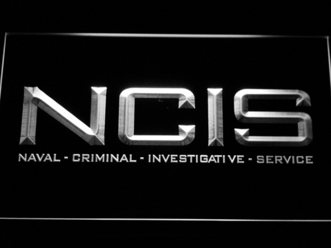Image of NCIS LED Neon Sign - White - SafeSpecial