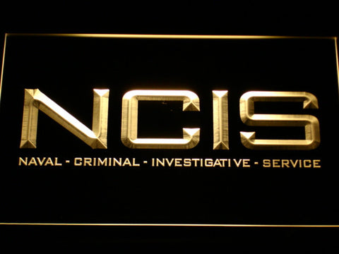 Image of NCIS LED Neon Sign - Yellow - SafeSpecial