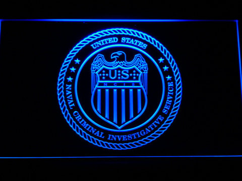 Image of NCIS Seal LED Neon Sign - Blue - SafeSpecial