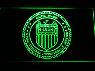 NCIS Seal LED Neon Sign - Green - SafeSpecial