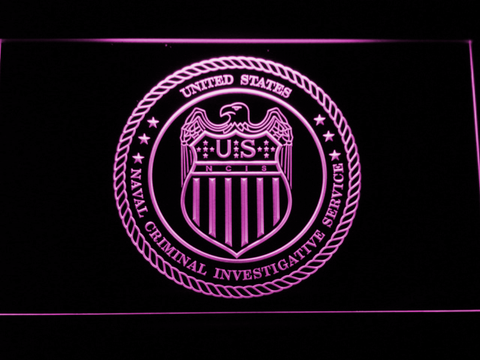 Image of NCIS Seal LED Neon Sign - Purple - SafeSpecial