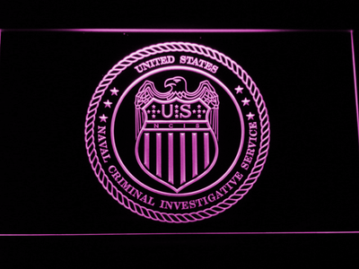 NCIS Seal LED Neon Sign - Purple - SafeSpecial
