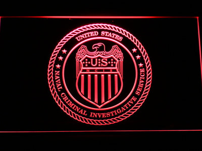 NCIS Seal LED Neon Sign - Red - SafeSpecial