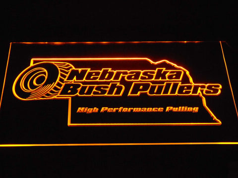 Image of Nebraska Bush Pullers LED Neon Sign - Yellow - SafeSpecial