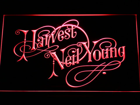 Neil Young Harvest LED Neon Sign - Red - SafeSpecial