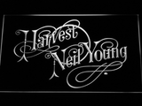 Neil Young Harvest LED Neon Sign - White - SafeSpecial