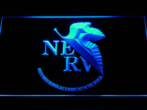 Neon Genesis Evangelion Nerv LED Neon Sign - Blue - SafeSpecial