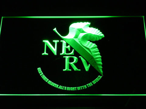 Neon Genesis Evangelion Nerv LED Neon Sign - Green - SafeSpecial