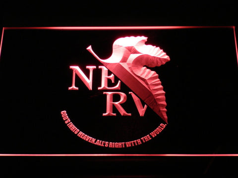 Neon Genesis Evangelion Nerv LED Neon Sign - Red - SafeSpecial