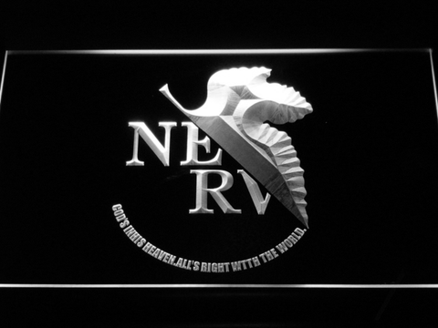 Neon Genesis Evangelion Nerv LED Neon Sign - White - SafeSpecial
