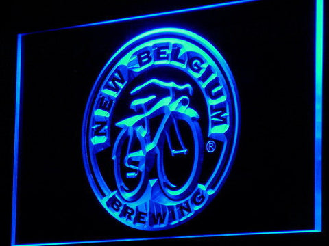 New Belgium Brewing Company LED Neon Sign - Blue - SafeSpecial