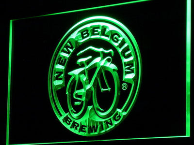 New Belgium Brewing Company LED Neon Sign - Green - SafeSpecial