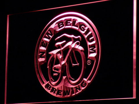 New Belgium Brewing Company LED Neon Sign - Red - SafeSpecial