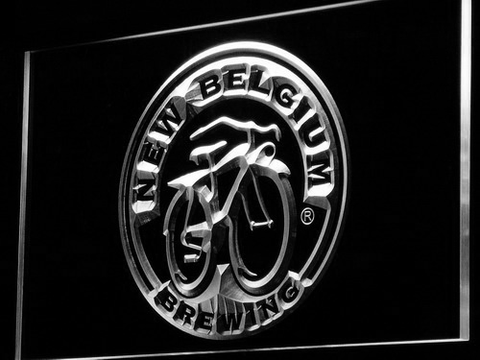 New Belgium Brewing Company LED Neon Sign - White - SafeSpecial