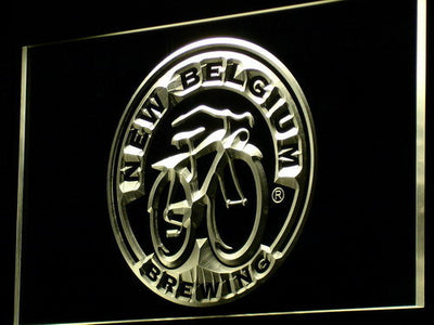 New Belgium Brewing Company LED Neon Sign - Yellow - SafeSpecial