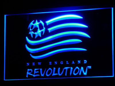 New England Revolution LED Neon Sign - Blue - SafeSpecial