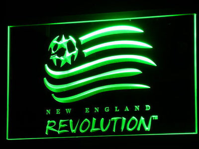 New England Revolution LED Neon Sign - Green - SafeSpecial