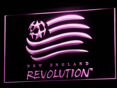 New England Revolution LED Neon Sign - Purple - SafeSpecial