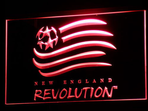 New England Revolution LED Neon Sign - Red - SafeSpecial