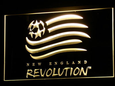 New England Revolution LED Neon Sign - Yellow - SafeSpecial