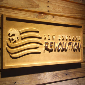 New England Revolution Wooden Sign - - SafeSpecial