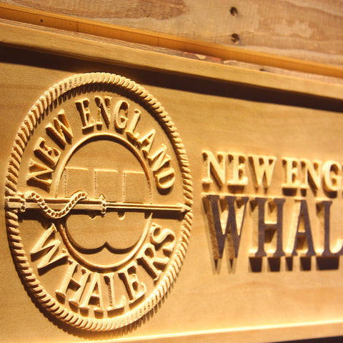 New England Whalers Wooden Sign - Legacy Edition - - SafeSpecial