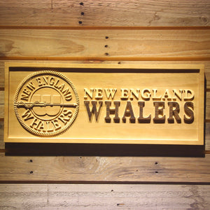 New England Whalers Wooden Sign - Legacy Edition - Small - SafeSpecial