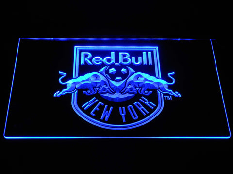 Image of New York Red Bulls LED Neon Sign - Blue - SafeSpecial