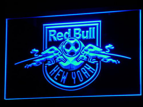 New York Red Bulls LED Neon Sign - Legacy Edition - Blue - SafeSpecial
