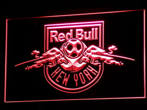 New York Red Bulls LED Neon Sign - Legacy Edition - Red - SafeSpecial