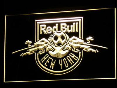 New York Red Bulls LED Neon Sign - Legacy Edition - Yellow - SafeSpecial