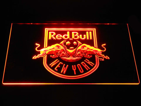 Image of New York Red Bulls LED Neon Sign - Orange - SafeSpecial