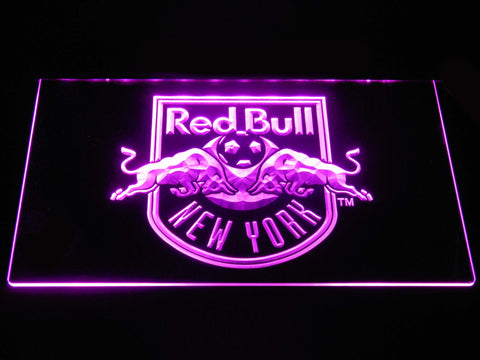 Image of New York Red Bulls LED Neon Sign - Purple - SafeSpecial