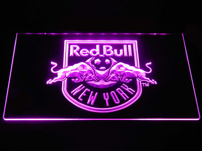 New York Red Bulls LED Neon Sign - Purple - SafeSpecial