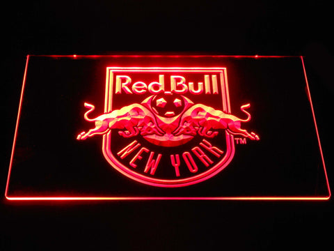 Image of New York Red Bulls LED Neon Sign - Red - SafeSpecial