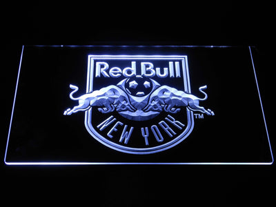 New York Red Bulls LED Neon Sign - White - SafeSpecial
