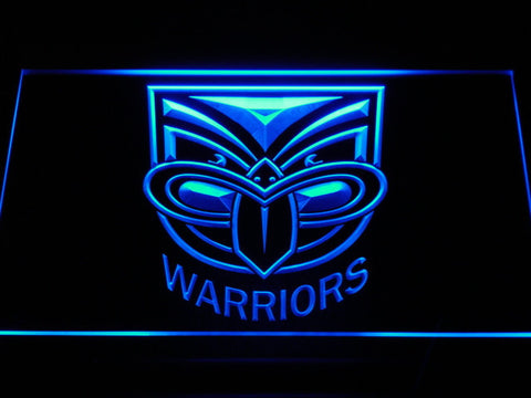 New Zealand Warriors LED Neon Sign - Blue - SafeSpecial