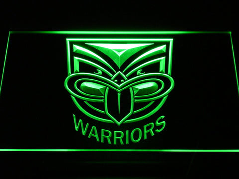 New Zealand Warriors LED Neon Sign - Green - SafeSpecial