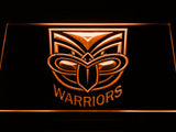 New Zealand Warriors LED Neon Sign - Orange - SafeSpecial