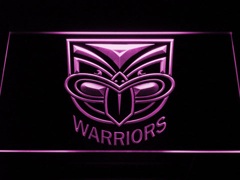 New Zealand Warriors LED Neon Sign - Purple - SafeSpecial