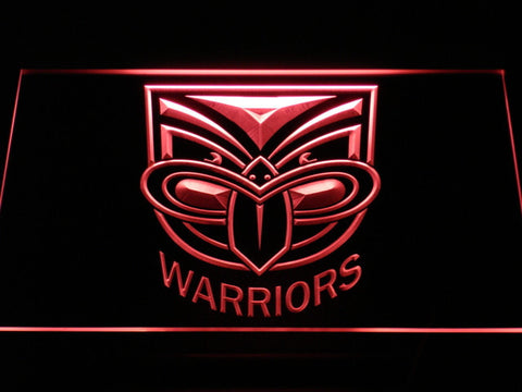 New Zealand Warriors LED Neon Sign - Red - SafeSpecial