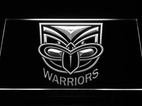 New Zealand Warriors LED Neon Sign - White - SafeSpecial