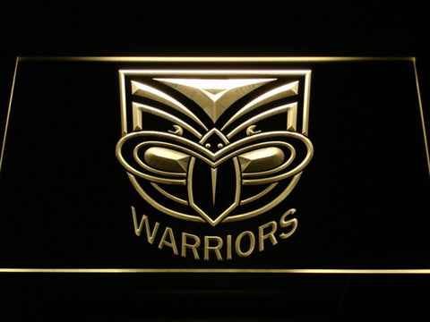 New Zealand Warriors LED Neon Sign - Yellow - SafeSpecial