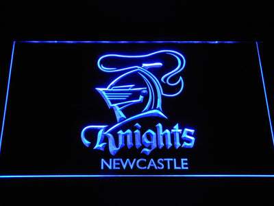 Newcastle Knights LED Neon Sign - Blue - SafeSpecial