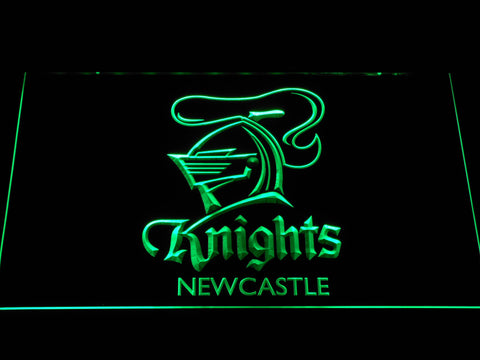 Image of Newcastle Knights LED Neon Sign - Green - SafeSpecial