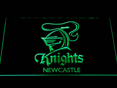 Newcastle Knights LED Neon Sign - Green - SafeSpecial