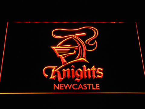 Image of Newcastle Knights LED Neon Sign - Orange - SafeSpecial