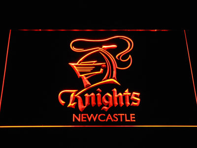 Newcastle Knights LED Neon Sign - Orange - SafeSpecial